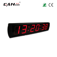 [Ganxin]Wall mounted 4'' Large Screen Led Digital Clock Seconds Count Up