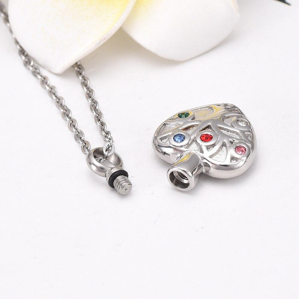 Xileg Heart Opal Rock Natural Quartz Crystal Healing Chakra Stone Pendant Necklace Jewelry