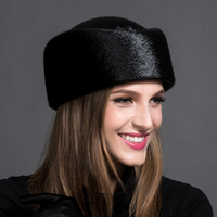 The Top 2016 High End Custom Fashion Special Offer Solid Adult Female Mink Fur Fur Hat