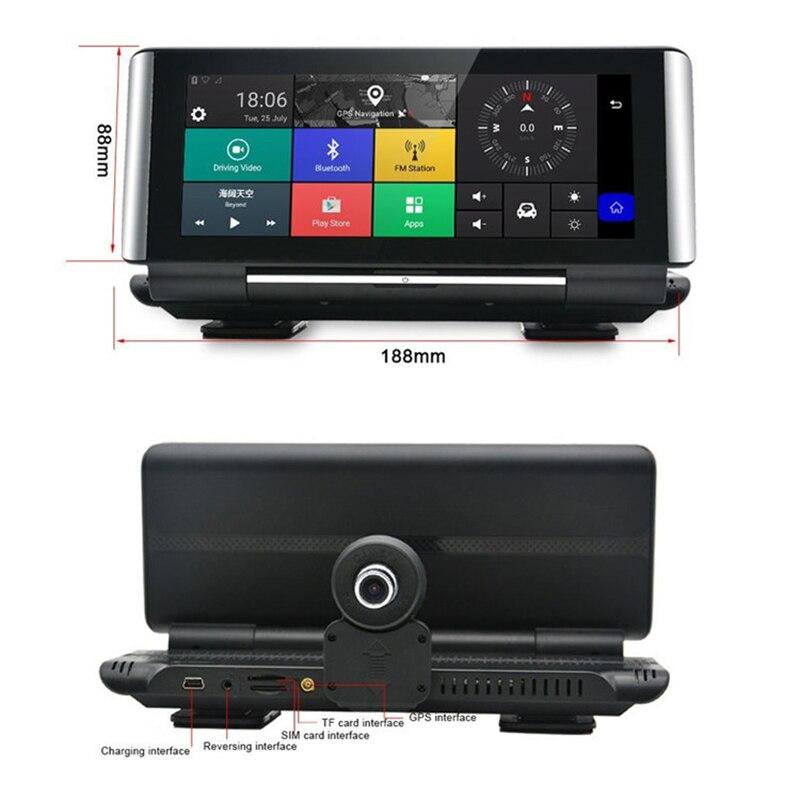 E ACE E01 voiture DVR GPS 4G Navigation Tracker 7 Android DVR voiture caméra WIFI 1080P ADAS enregistreur vidéo pour les navigateurs de tourisme automobile - 5