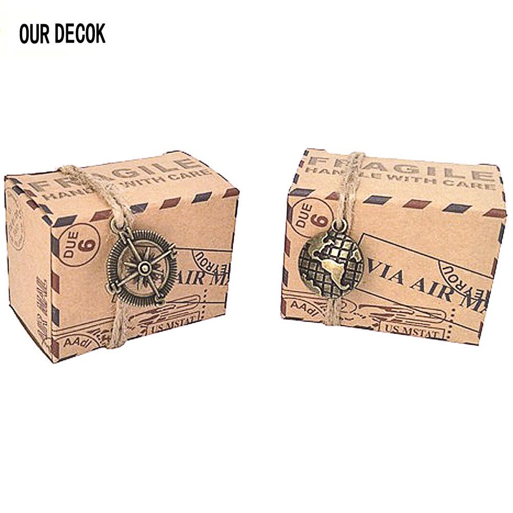 10 шт. Новый штамп дизайнерские свадебные Винтаж шоколадные конфеты Упаковка Подарочная коробочка из крафт-бумаги Сувениры и подарки сумка вечерние поставки