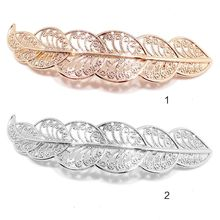 Classical Metallic Side Bangs Hair Clip Women Girl Leaf Shape Hollow Out Lace Pattern Hairpin Vintage One Word Ponytail Barrette hairpin lace entry tutorial crochet hairpin pattern style pattern daquan hand knitted practical stitch technique woven books