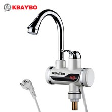 (Ship from Russia) Instant Tankless Water Heater Tap Kitchen Faucet Water Heater Crane Instant Hot with Temperature Display