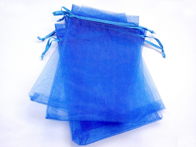 1000pcs 13 18 Blue Gift Bags For Jewelry Wedding Christmas Birthday Organza