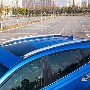 Image 4 - 2013 2014 2015 2016 2017 도요타 RAV4 XA40 실버 외관 자동차 자동 지붕 랙 레일 엔드 커버 셸 캡 교체 4PCS