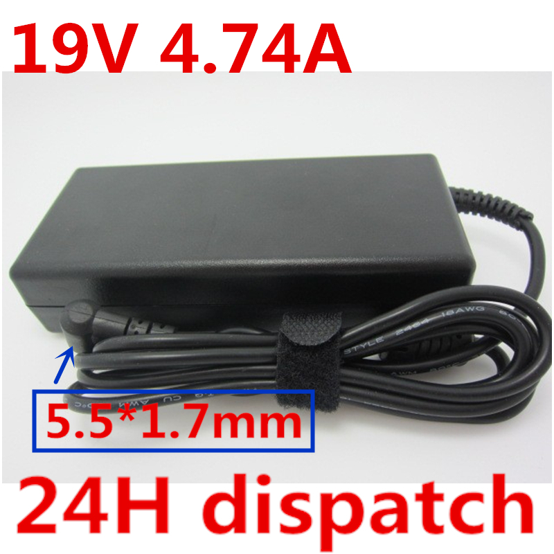 HSW 19V 4.74A 90W 5.5*1.7mm POWER SUPPLY AC Adapter Laptop Charger for Acer Aspire 5742G 5745G 5750G 5755G 5920G 5951