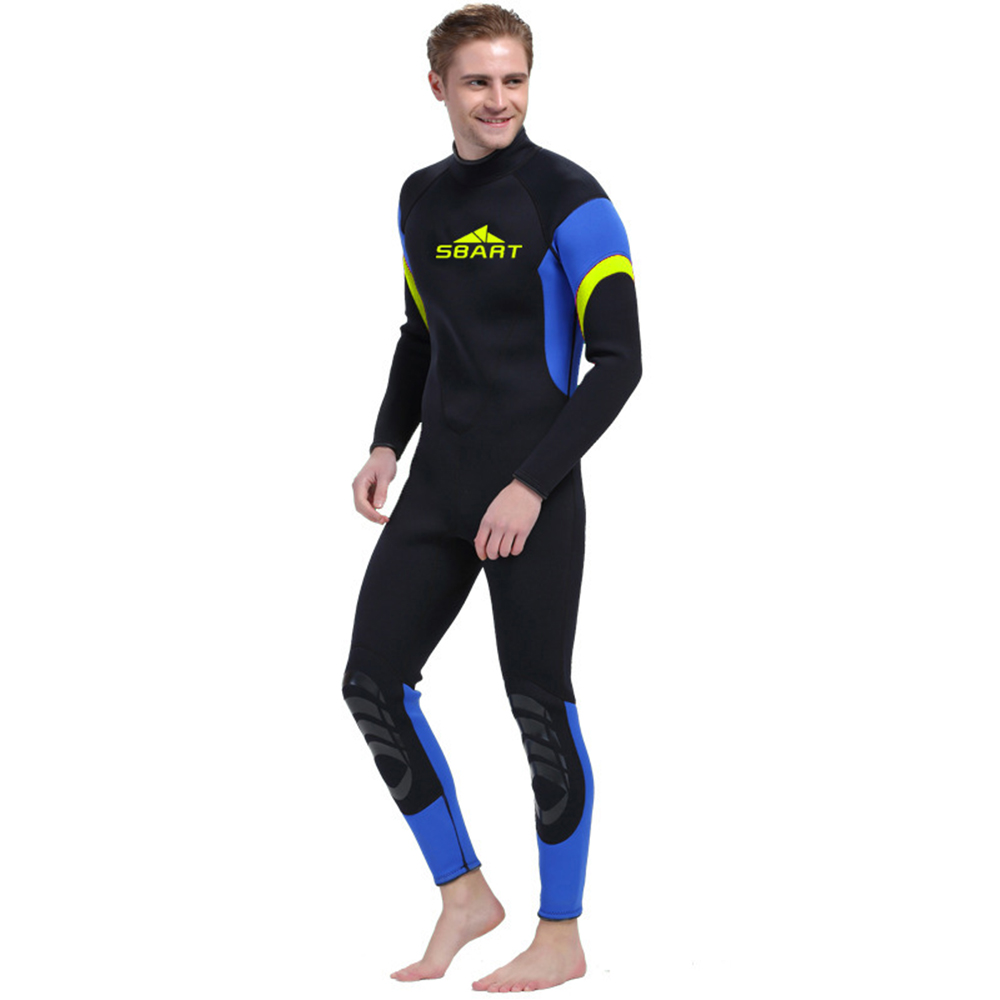 Sbart Men 3MM Neoprene Warm Diving Suit Long Sleeved One-piece Swimming Jellyfish Wetsuits Snorkeling Suits sbart professional 2mm men short sleeved wetsuit zipper one piece rash guard wetsuits neoprene scuba diving warm wetsuits