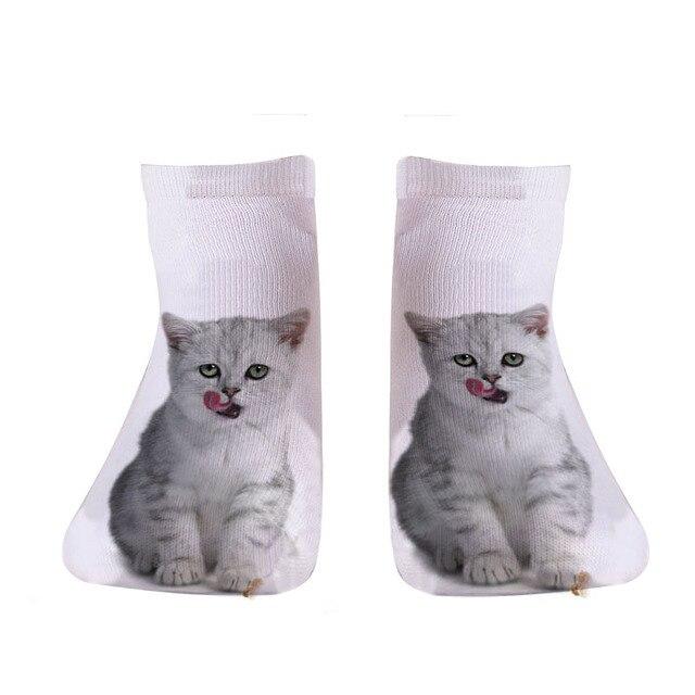 Funny animal Cute 3D Print Women Socks 4