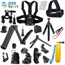 DSD TECH for GoPro 3 Way grip chesty chest harness accessories for go pro hero 5 4 3 2 session sjcam m20 xiaomi yi 2 4k 08C