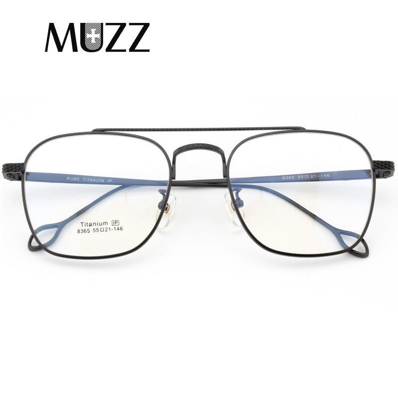 Pure Titanium Glasses Eyeglasses Frame Men Vintage Brand Oversize Prescription Spectacles High-quality Points Aviation Eyewear