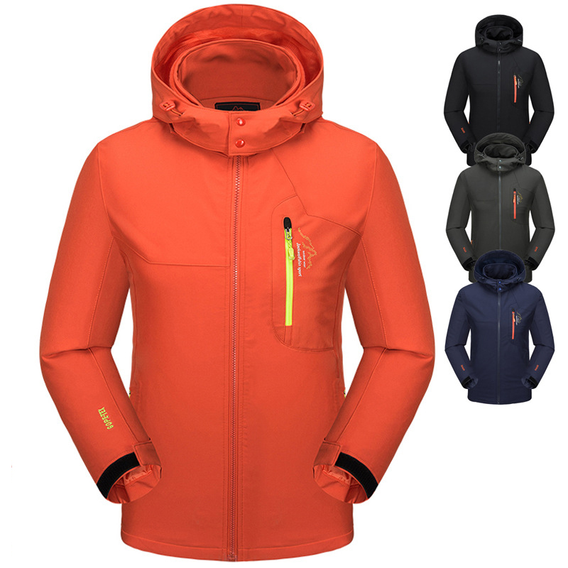 High quality Outdoor Four sided Elastic Soft shell Jacket Men Waterproof Quick dry Windbreaker Coats Camping