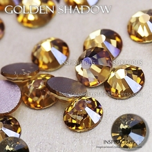 Golden Shadow SS3-SS30 all sizes 2018 new color 3D Nail Art Rhinestone for DIY manicure design Non HotFix crystal glitter strass