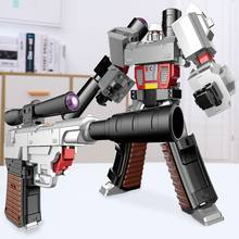 Transformation Assembly Gun Robot Military Model Metal Alloy Deformation Action Figures Robot Boys Gift Educational Toys For Kid(China)
