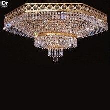 Oro lámpara luces del techo del vestíbulo de lujo lámpara cristalina moderna de lujo dormitorio de la lámpara 90 cm W x 43 cm H