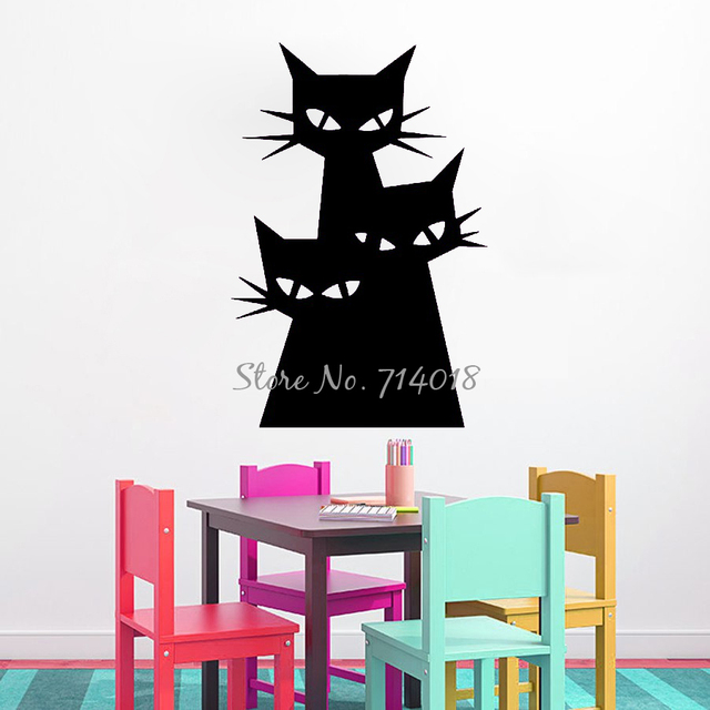 vinyl wall stickers halloween decorations cat wall decal evil cats