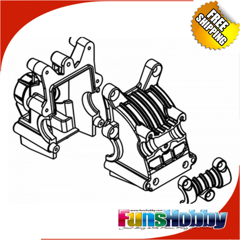 MCD Racing Front Rear Diff House Set COD 415101P