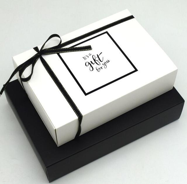 Qi 20pcs Lot Fashion Wedding Candy Box Black Paper Gift Box