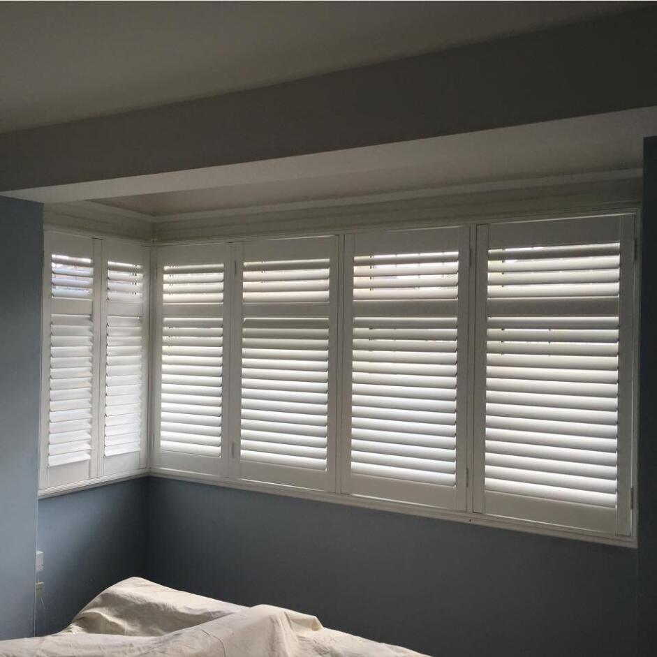 Folding Doors Shutters Interior Solid Timber Wood Window Shutters Good Quality Wood Plantation Shutter With Fashionable