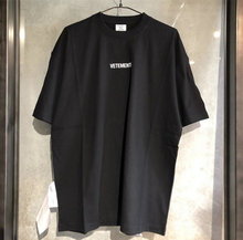 Vetements 2020 Logo Borduren Grote Wassen Label Buiten Vrouwen Mannen T shirts tees Hiphop Oversized Mannen Katoenen t-shirt Vetements(China)