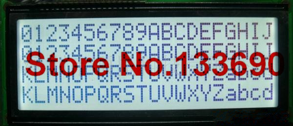 larger LCD gray 2004 20*4 20x4 wh2004l black on the white largest 204 character lcd display module 146*62.5mm LC2042 AC204B