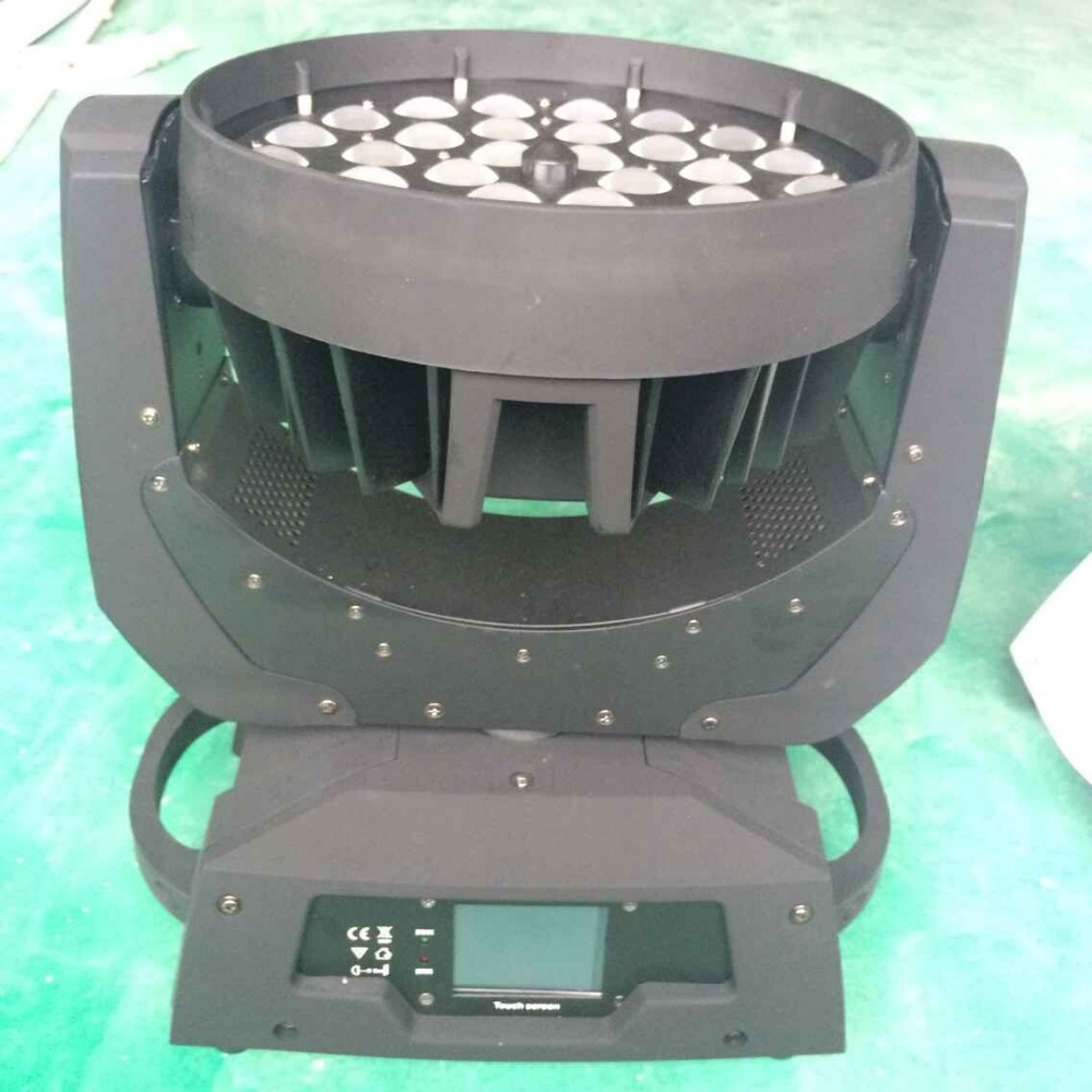 6pcs/lot stage light equipment touch screen 36*10w 4 IN 1 RGBW Led zoom moving head wash light for wedding decoration