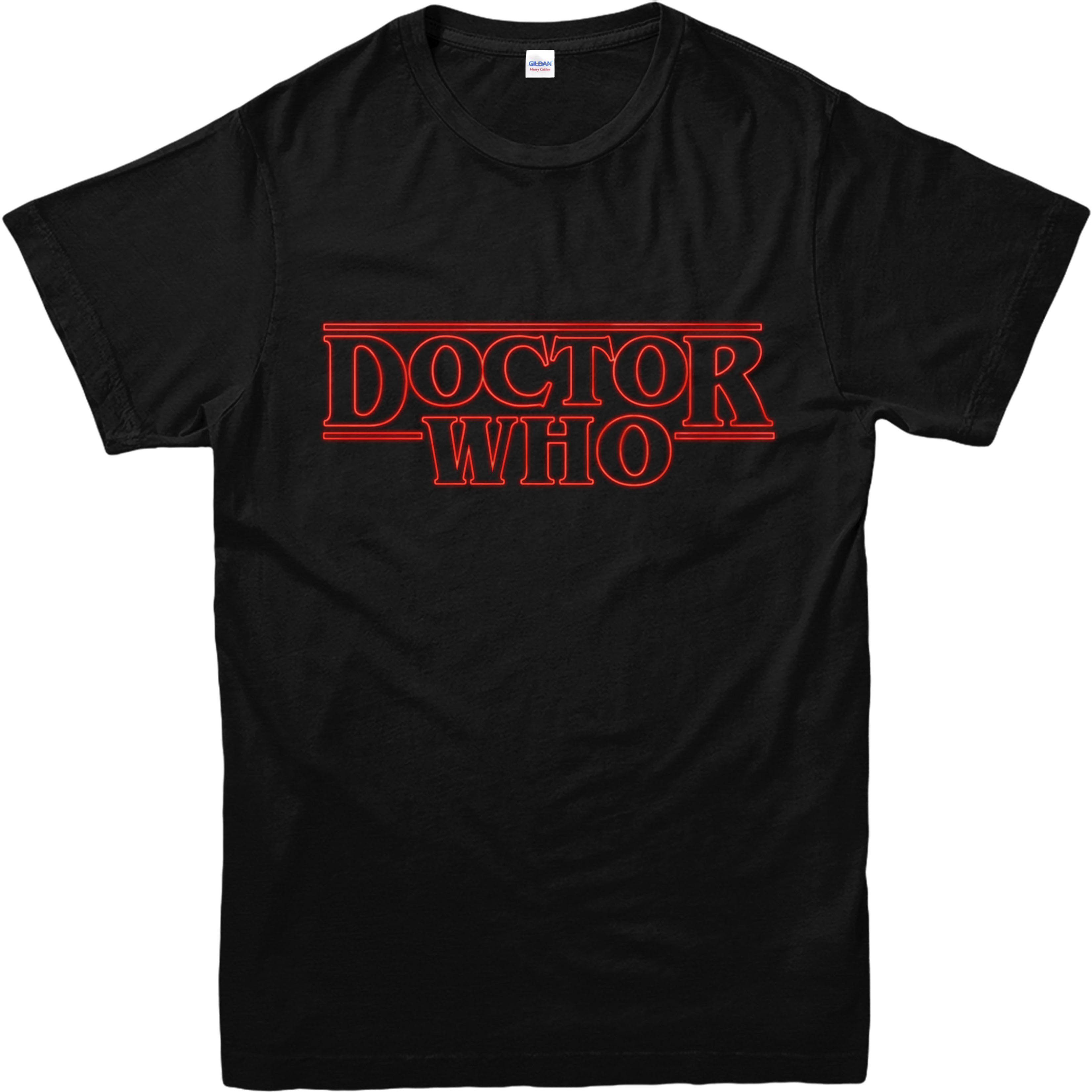 Doctor who t shirt stranger things spoof t shirt for Best quality shirts to print on