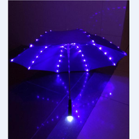 New Flashing Rain&Sun Umbrella Safety Warning Protection Decorative Lamp Umbrellas Birthday Gift Stage Properties