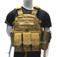 Tactical Molle Vest Paintball Military Hunting Game Airsoft W/ M4 Pouch Vest Combat Gear