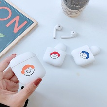 Cute Simple Cartoon Smile Case For Airpods Cover Hard PC Wireless Bluetooth Earphone Coque AirPods Accessories