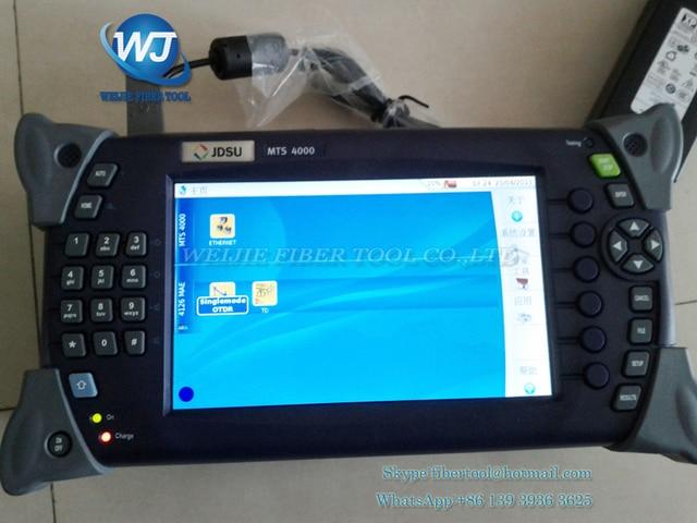 Modular Handheld Tester JDSU MTS-4000 E4126LA SM OTDR 1310/1550nm, 35/33dB, 4000 Medidor de Energia de Fibra Óptica OTDR JDSU T-BERD & VFL