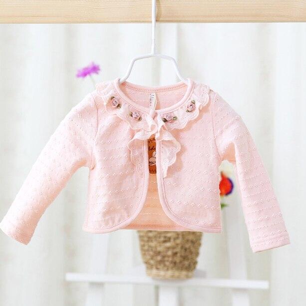 2017 Frühling Und Herbst Neue Stil Babys Langarm Schal Strickjacke Jacke Mantel Jacke Blumen Oberbekleidung Mäntel Harmonische Farben