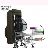 Cadeira de pesca 2019 nova cadeira de pesca portátil reclinável multi-função dobrável engrenagem de pesca 150kg peso cadeira de pesca