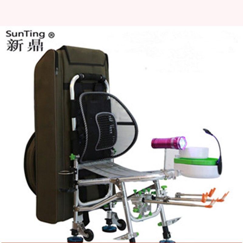 Silla de pesca 2019 nueva silla de pesca portátil reclinable multifunción plegable equipo de pesca 150kg peso cojinete Silla de pesca