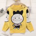 Wool Infant Sweater Cartoon Yellow Unisex Baby Boy Fashion Sweaters Girl Casual Winter Autumn O-Neck Pullovers Full Cardigan