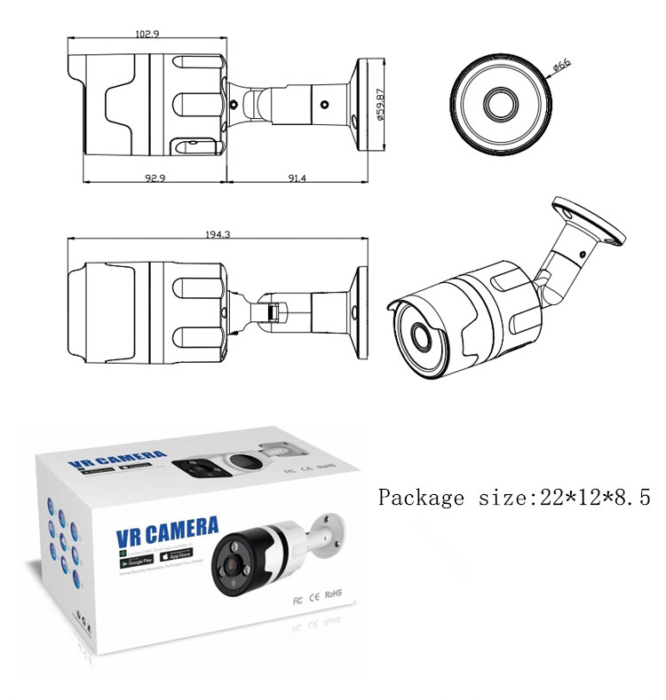 IP Camera 960P HD Email Alert Motion Detection