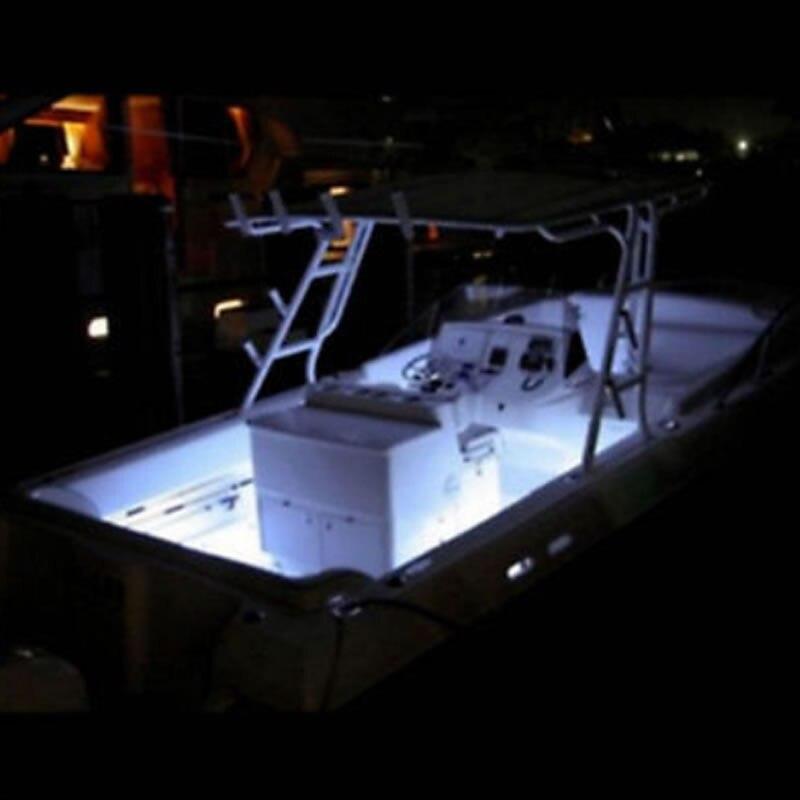 12x New Marine Large Warm White White Blue 12 volt Waterproof LED Courtesy/Utility Lights