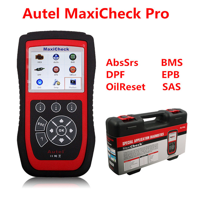 auto diagnostic scanner Autel MaxiCheck Pro EPB/ABS/SRS/TPMS/DPF/Oil Service/Airbag Rest tool Diagnostic Function car scanner