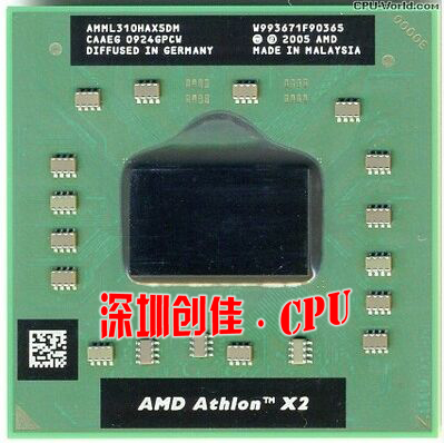 original AMD Athlon L310 notebook CPU AMML310HAX5DM LGA Free shipping best quality socket S1 processor