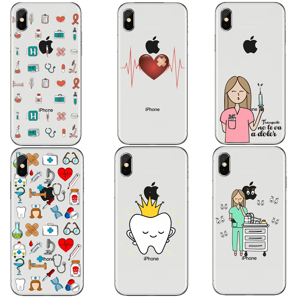 Cellphones & Telecommunications Phone Bags & Cases Funny Cartoon Medicine Equipment Nurse Doctor The Stethoscope Silicone Tpu Phone Case For Iphone X 10 5 5s Se 6 6s Plus 7 8 Plus