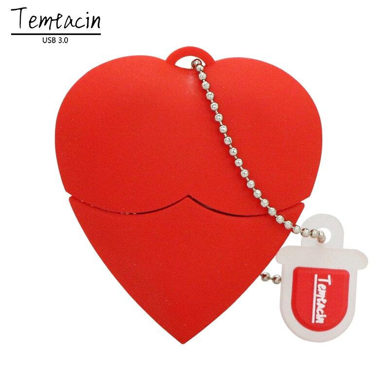 Heart 4GB/8GB/16GB/32GB/64GB USB Flash Drive USB Flash Disk USB 3.0 Drive Flash Card