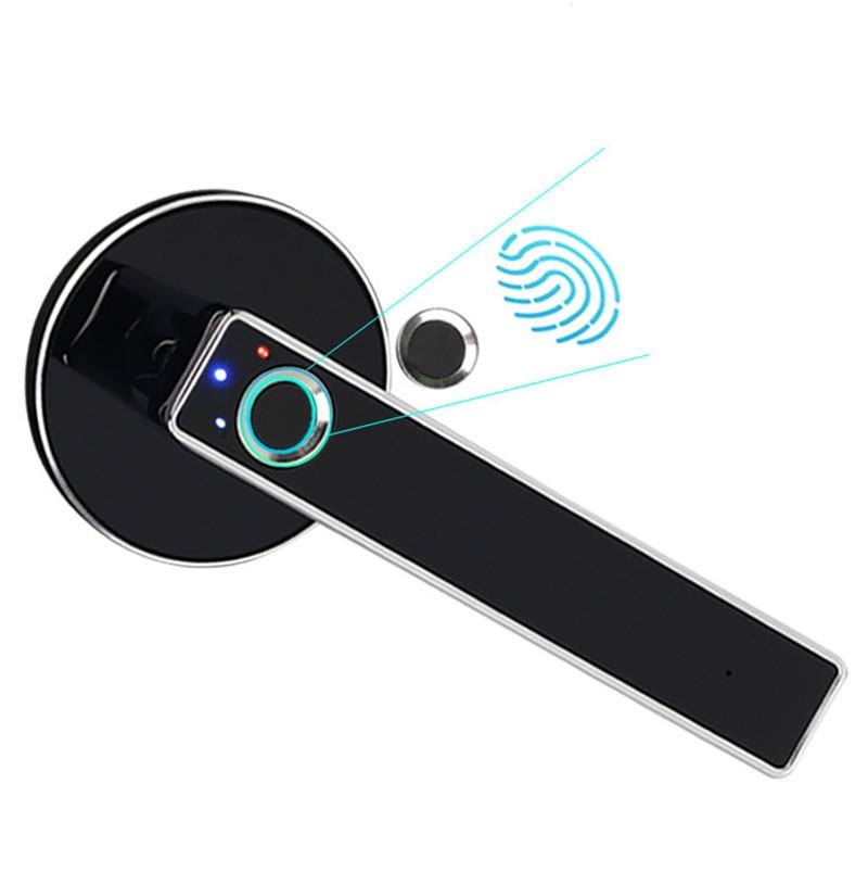 Intelligent Semiconductor Fingerprint Lock Electronic Biometric Door for Indoor Home Use Simple Design