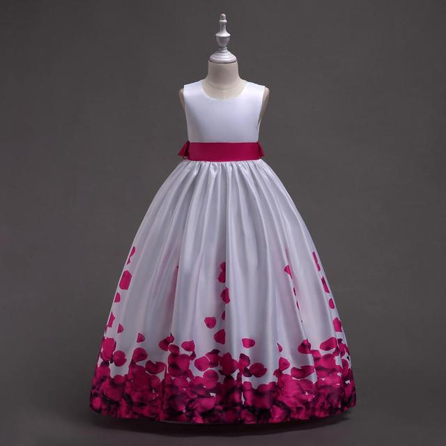 Summer Princess Sleeveless Dress For Girls Clothing Fashion Kids Girls Wedding Bridesmaid Party Dress Teenage 8 10 13Girl Dress