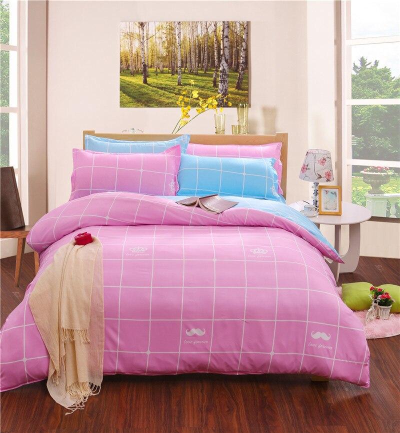 2017 new arrive bedding cover set modern colorful quilt cover 4pcs set blue and grey paris bed. Black Bedroom Furniture Sets. Home Design Ideas