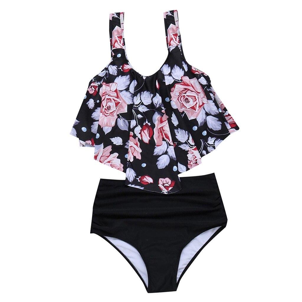 Women's Swimming Suit Sexy Bikini Swimsuit Women Swimwear 2PCS Bathing Suits Top Ruffled With High Waisted Bottom Bikini Set