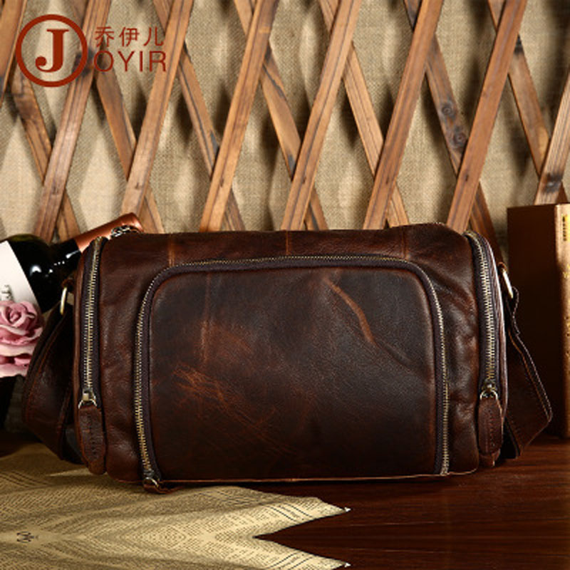 YISHEN Genuine Cowhide Leather Men's Shoulder Crossbody Bags Vintage Casual Male Messenger Bags Fashion Travel Bags QYRB349