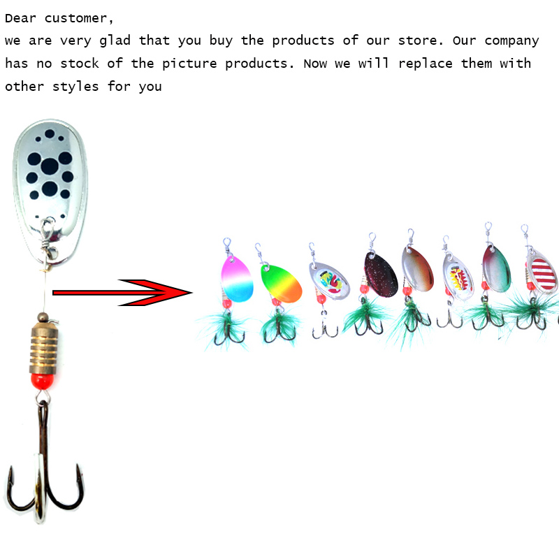 TopLine Tackle Fishing lure Rotating Metal Spinner Spoon Lure Hard Baits For Trout Pike Pesca Peche Treble Hook