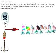 цена на TopLine Tackle Fishing lure Rotating Metal Spinner Spoon Fishing Lure Hard Baits For Trout Pike Pesca Peche Treble Hook Tackle