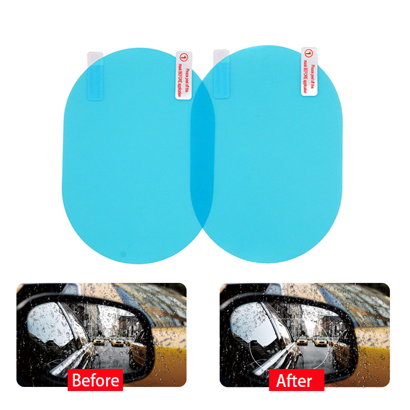 2Pcs/Set Car Rear View Mirror Protective Film Rainproof Car Sticker Anti Fog Car Mirror Window Clear Film Anti Fog Waterproof