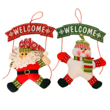 Santa Claus Snowman Tree Door Christmas Decoration For Home Ornament Decor Hanging Pendant Christmas