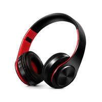 Écouteurs stéréo HIFI, casque d'écoute bluetooth, casque de musique FM et support carte SD avec micro pour tablette iphone sumsamg